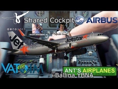 Aerosoft A320 Shared Cockpit on Vatsim. YBNA - YMML