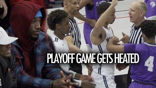 DeMar Derozan Shows Up To Watch Bronny James HEATED Sierra Canyon Playoff Game!