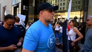 PRO-TRUMP /  ANTI-TRUMP / REFUSE  FASCISM  RALLIES  -  NYC (1)