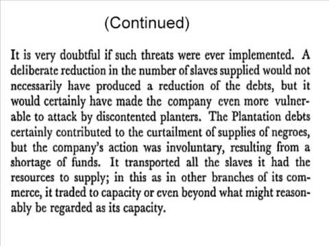 More on Debt and the slave trade