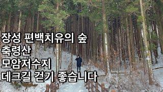 「장성 편백치유의 숲 축령산 모암저수지」 데크길 걷기 …