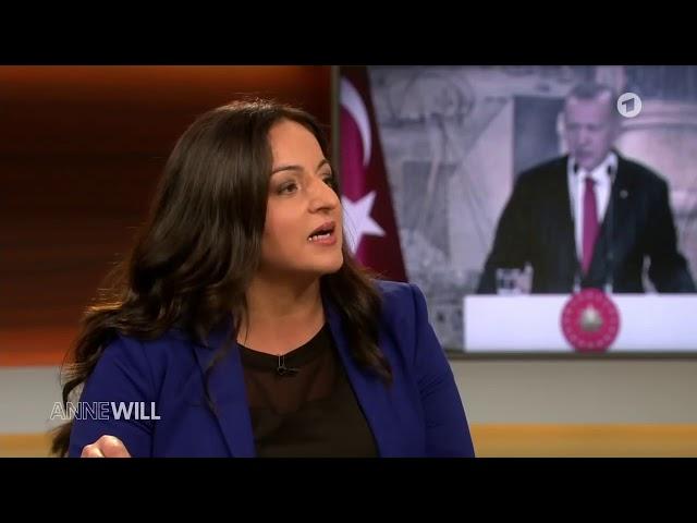Sevim Dagdelen am 20. Oktober 2019 bei Anne Will in der ARD