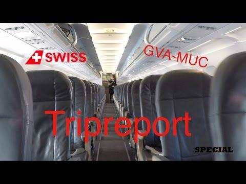 Special #115 TRIPREPORT - On bord a Swiss A319 to Munich GVA-MUC