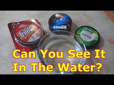 Is Fluorocarbon Really Harder To See?