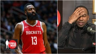 Stephen A blows up on caller for James Harden question  Stephen A Smith Show
