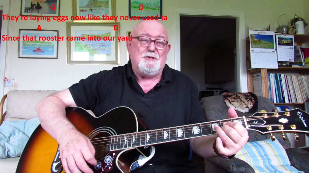 Guitar The Rooster Including Lyrics And Chords Youtube