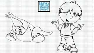 Harry and His Bucket Full of Dinosaurs - How to Draw Harry and His Bucket Full of Dinosaurs - Video
