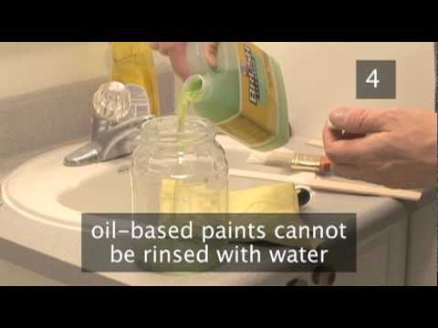 how to clean paint brushes and rollers after painting youtube. Black Bedroom Furniture Sets. Home Design Ideas