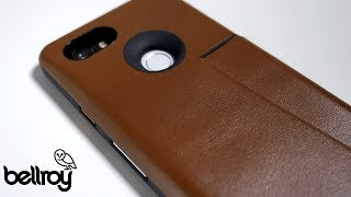 I show you the Pixel 2 XL leather wallet case. Glass Screen Protect...