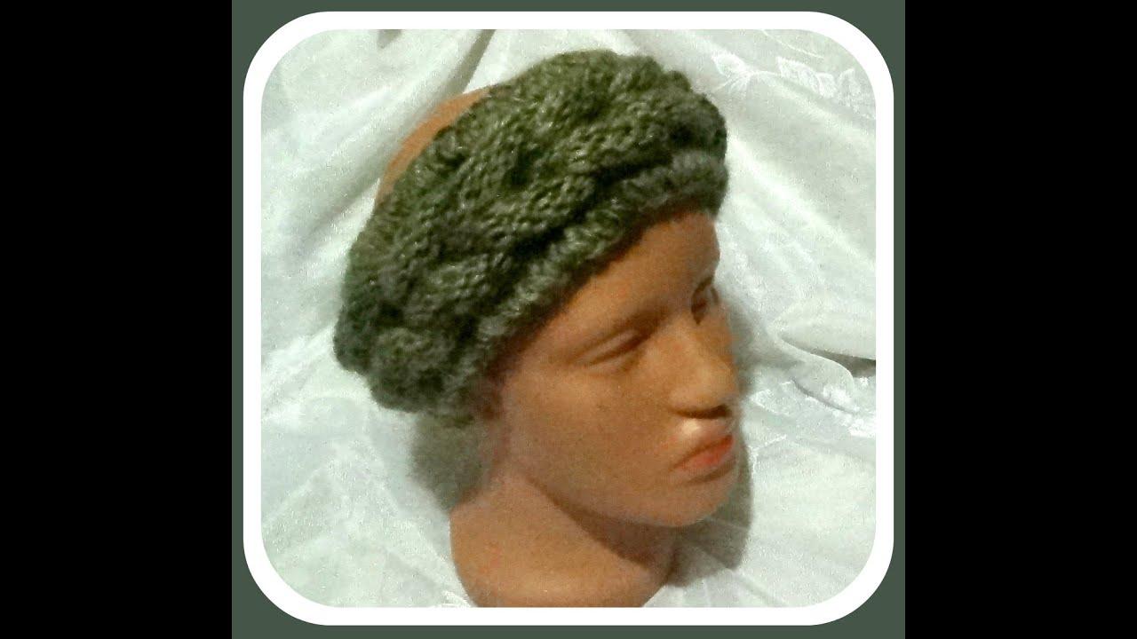 вязание схема повязка на голову