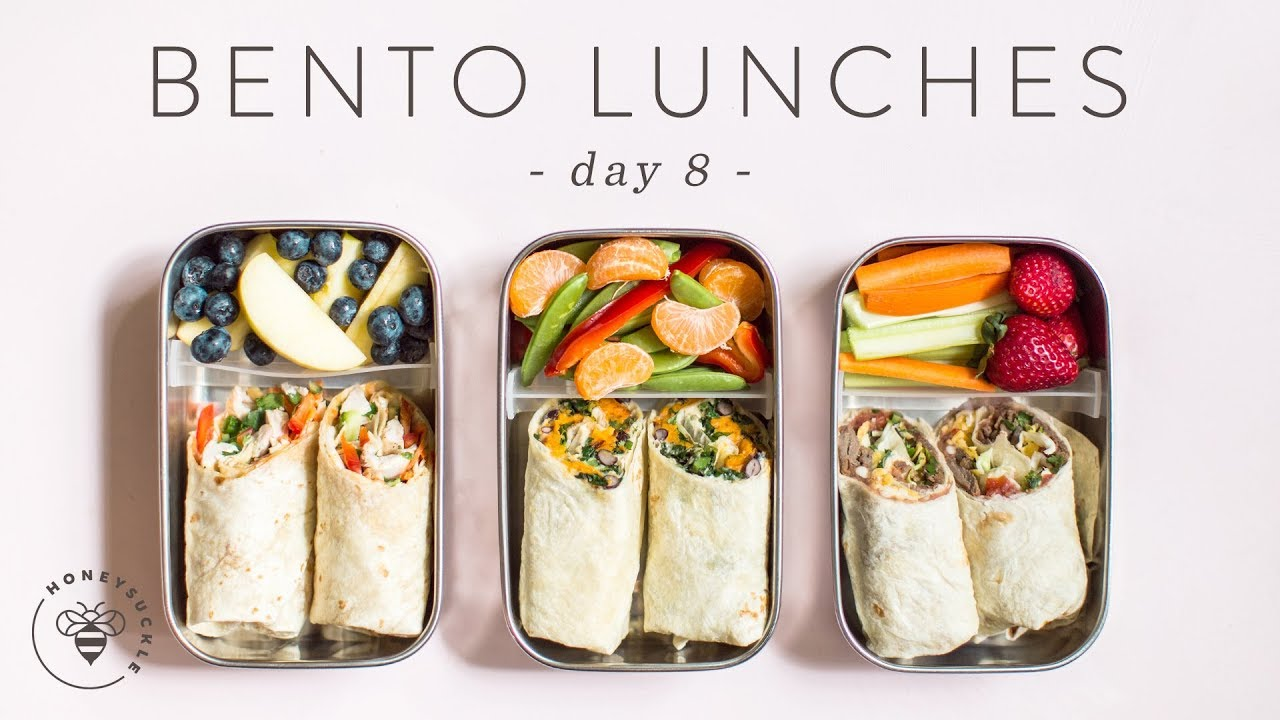 3 healthier bento box lunch ideas day 8 youtube for Bento lunch box isotherme