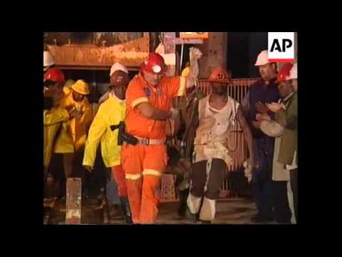SOUTH AFRICA: GOLD MINERS RESCUED