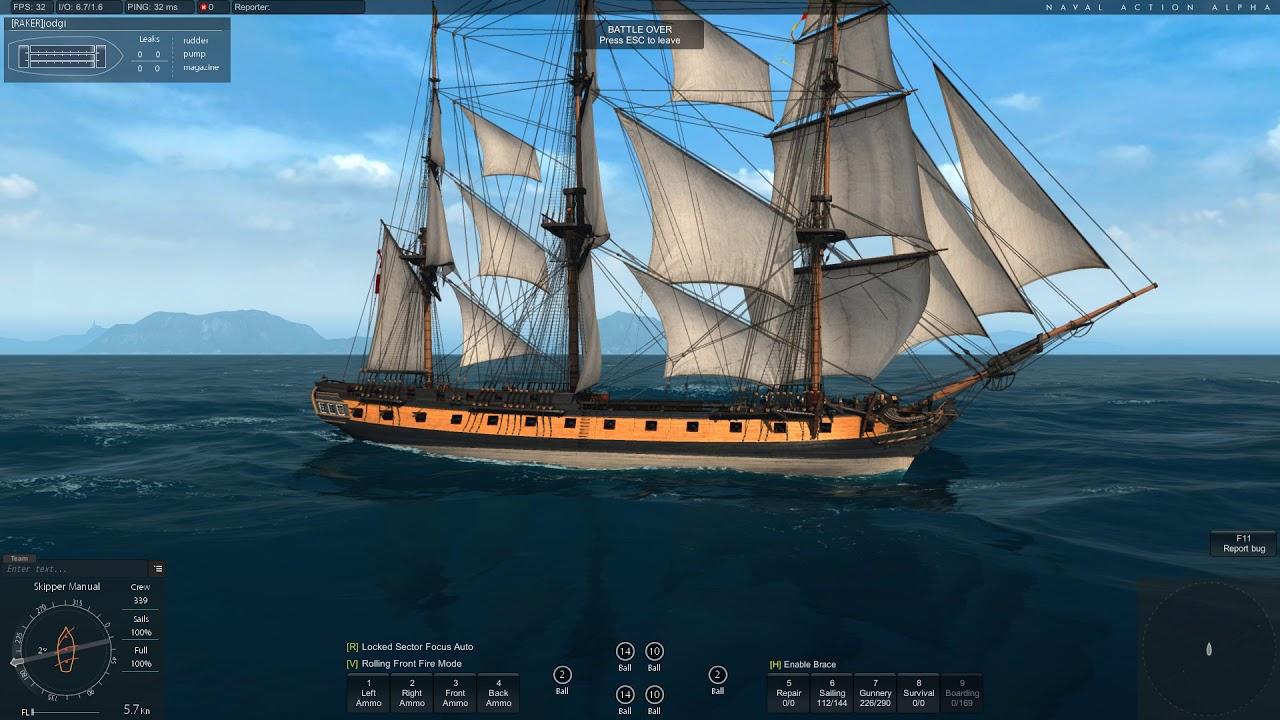 Naval Action - Testing - Endymion turning 360 - YouTube
