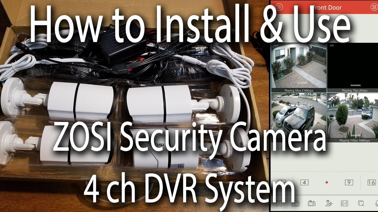 ZOSI 4 channel 1TB Security Camera Instillation & Review
