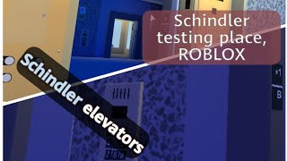 FIRST RECORDING on ROBLOX - Schindler Miconic 10 elevators (with ElevatorMan5000)