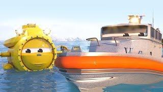 Мультфильмы для детей онлайн. Кораблики спасают машинку.