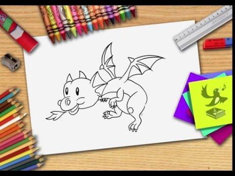 Hoe Teken Je Een Draak Zelf Een Draak Leren Tekenen Youtube