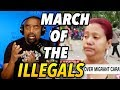 Children of the Lie WANT Marching Illegals in U S    Build the Wall