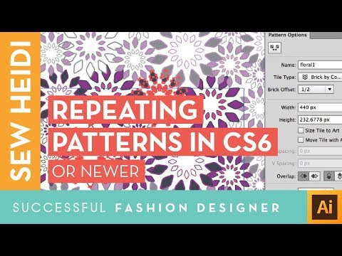 Seamless Repeating Textile Patterns in Illustrator: Using the Pattern Making Tool (CS6 & Newer)