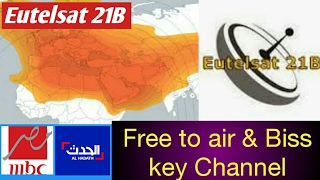 Eutelsat 21B Track Free to air and biss key channels