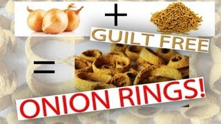 Low Calorie Snack \\guilt Free Onion Rings// Easy Recipe