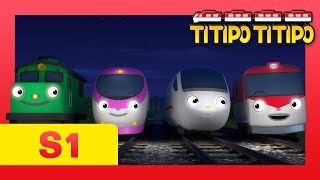 Titipo S1 E6 l Let's be good friends l How to make a new train friend l Titipo Titipo