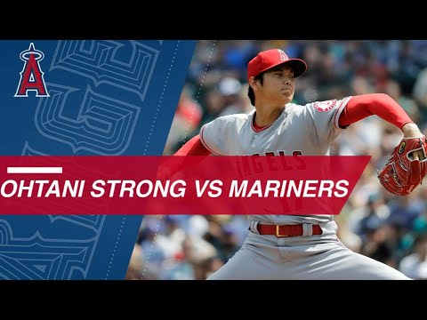Shohei Ohtani strikes out six over six innings against the Mariners