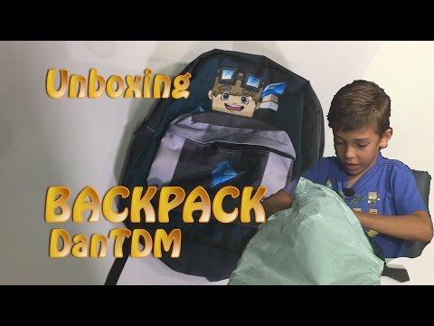 Unboxing DanTdm backpack