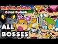Paper Mario: Color Splash - All Bosses Gameplay! (Nintendo Wii U)