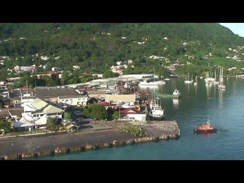 2016 Costa NeoRomantica - Docking Seychelles, Mahé 2
