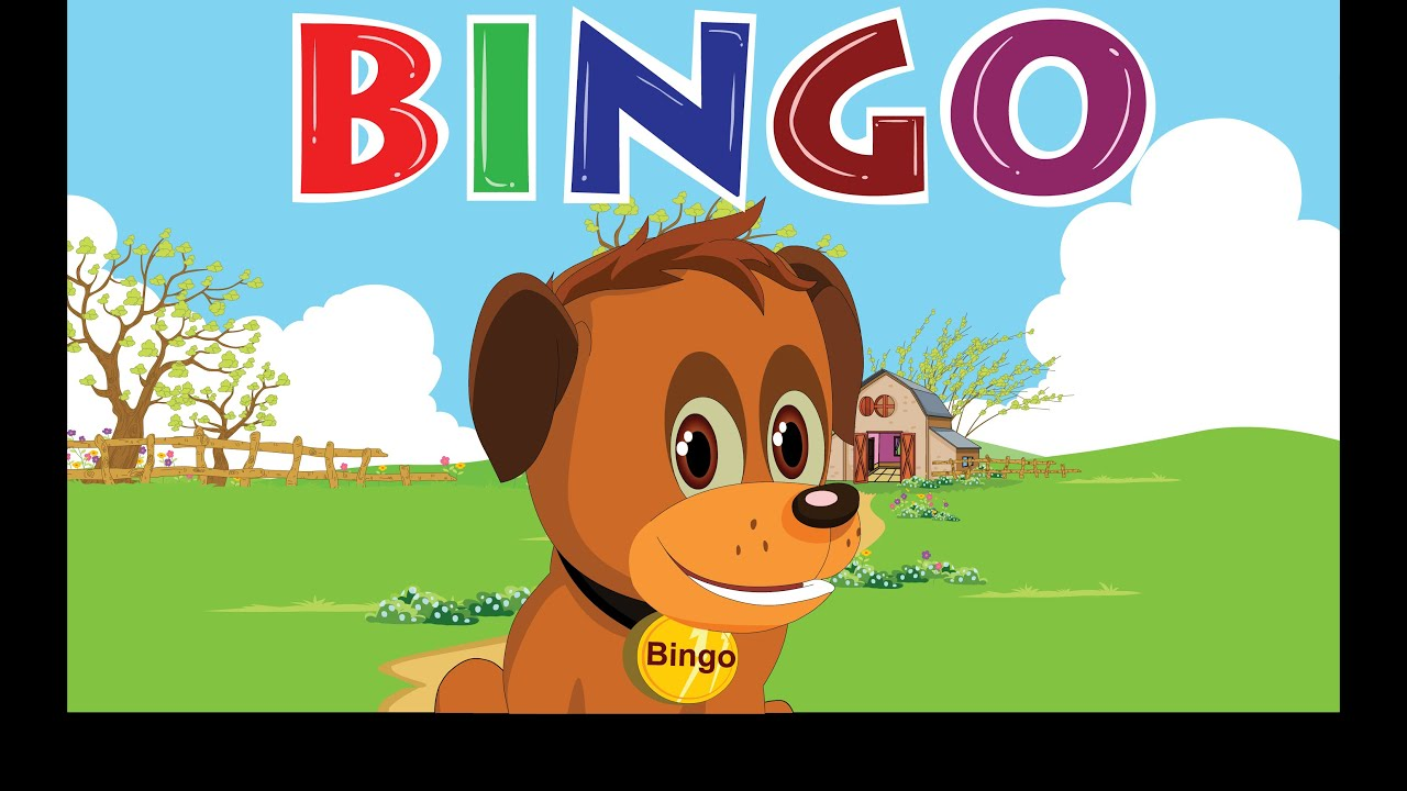 bingo dog song nursery rhyme with lyrics cartoon animation for children youtube
