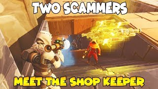 Two Scammers Meet The Shop Keeper *INSANE* (Scammer Gets Scammed) Fortnite Save The World