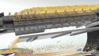 CLAAS LEXION Crop flow - APS HYBRID SYSTEM animation / 2011