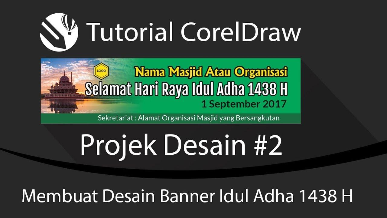 Projek Desain Membuat Banner Idul Adha H