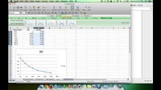 Microsoft Excel Kinetik Hızı Kanun Grafikleri Nasıl AP Kimya