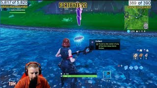 FORTNITE FORTBYTE #20 LOCATION UNLOCK FOUND IN THE CENTER OF ANY O F THE FIRST THREE STORM CIRCLES