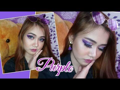 purple-glitter-glam-makeup-look-~-vlog#29