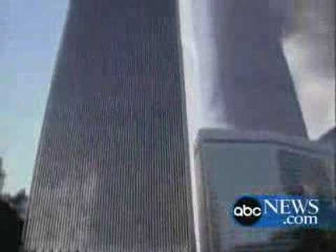 WTC 2 collapse from the south, street level ABC news