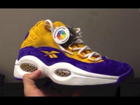 reebok lakers shoes