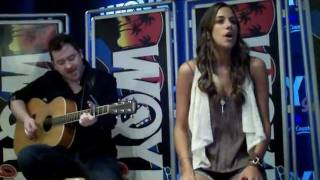 "Jana Kramer performs ""What I Love About Your Love"" for 99.5 WQYK in Tampa, Florida"