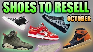 Most Hyped Sneaker Releases October 2019 | Sneakers To Resell October 2019