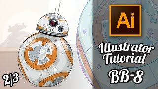 Illustrator Tutorial - Star Wars Droide BB-8 im GTA Stil (Part 2/3) [Deutsch / German]