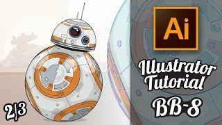Illustrator Tutorial - Star Wars Droide BB-8 im GTA Stil (Part 2/3) [Deutsch / German]