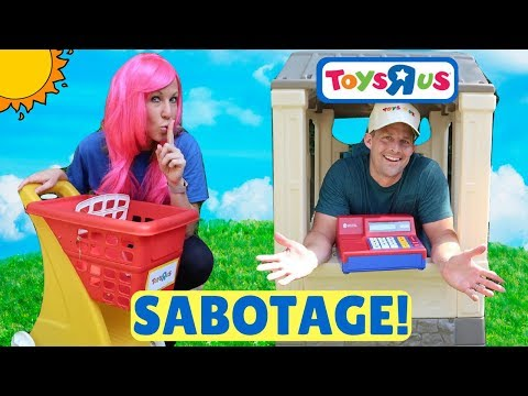 Fake Toys R Us Worker PRANKS Breaks and RUINS Other Store !!