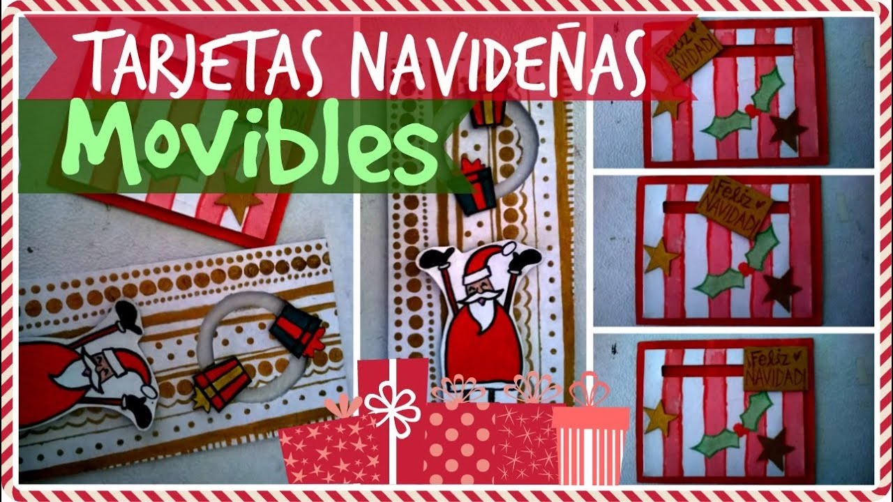 tarjetas navideas movibles ideas fciles