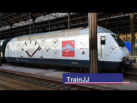 Re 460 044-1 MONDAINE Stop2Go | Basel SBB | Alp Transit Gottardo 2016 | IR Interlaken Ost | Werbelok