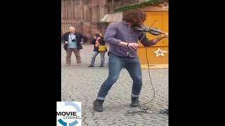 AMAZING  Street Artist Violinist  Square London 2017