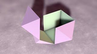 Cube Which Transform Itself Into Rhombic Dodecahedron / Куб, превращающийся в ромбододекаэдр