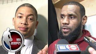Tyronn Lue and LeBron James on Cavaliers