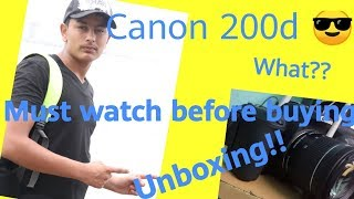 MY FIRST DSLR CANON 200d!! UNBOXING CANON 200d!! should BUY or NOT??